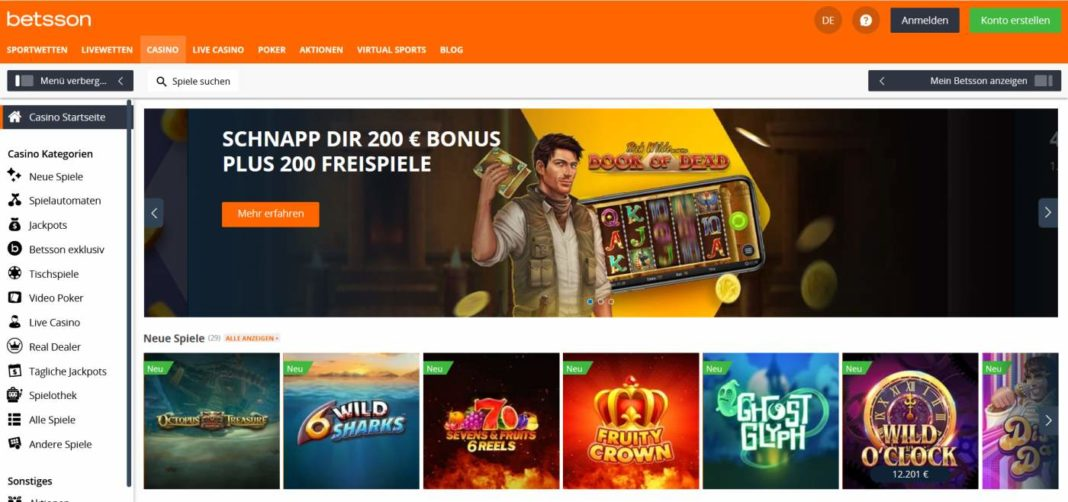 betsson casino Startseite